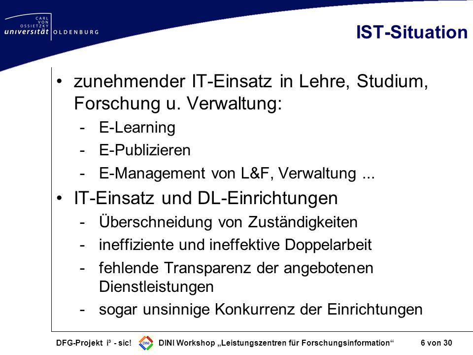 zunehmender IT-Einsatz in Lehre, Studium, Forschung u. Verwaltung: