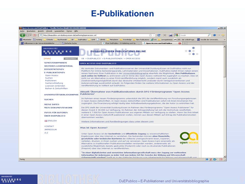 E-Publikationen