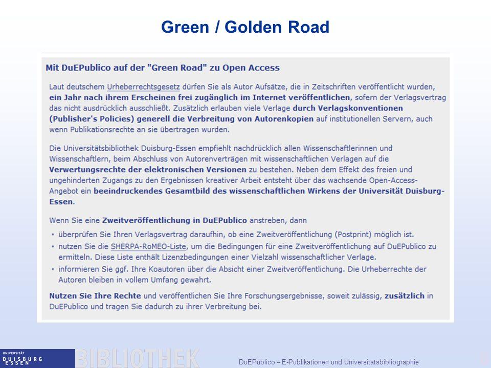 Green / Golden Road