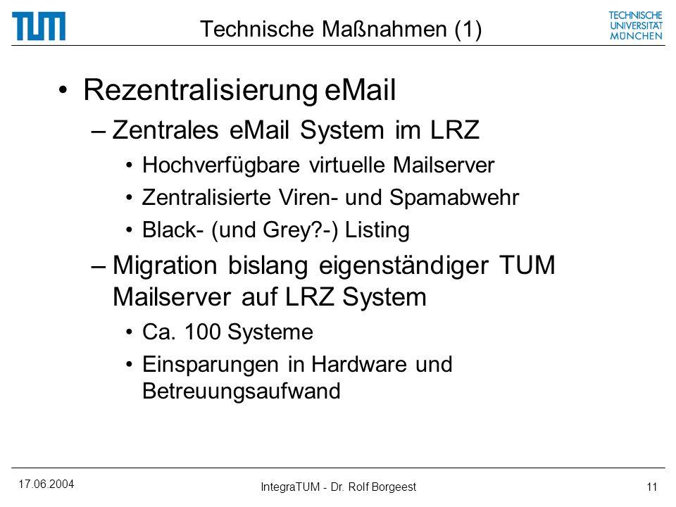 Technische Maßnahmen (1)