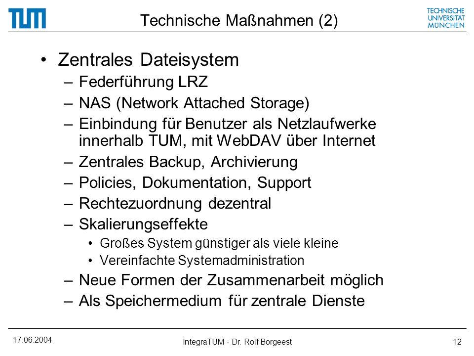 Technische Maßnahmen (2)