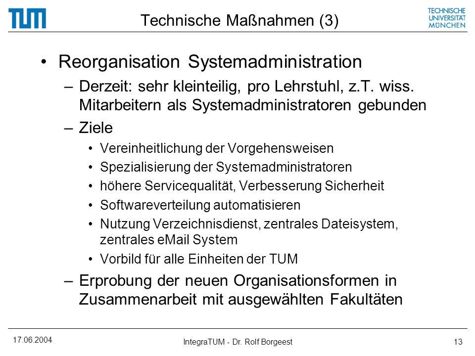 Technische Maßnahmen (3)
