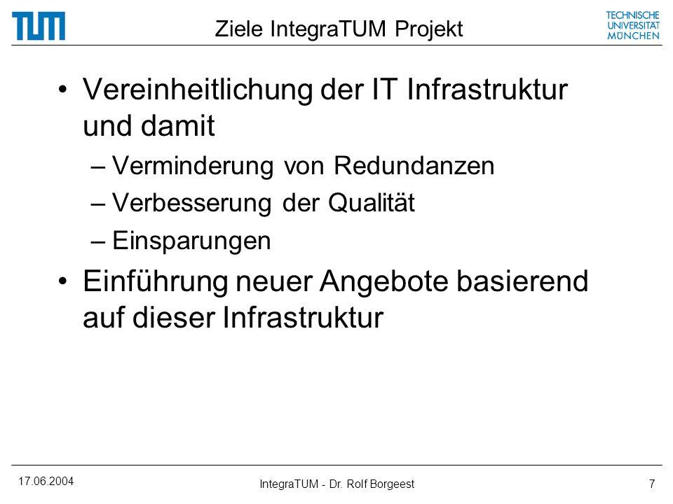 Ziele IntegraTUM Projekt