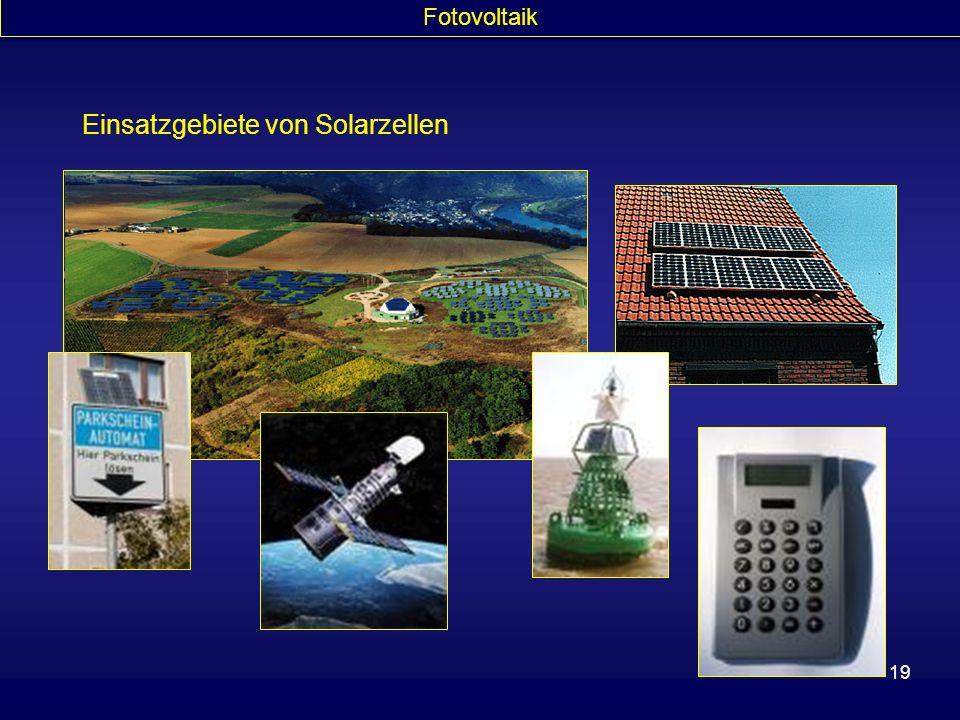 Einsatzgebiete von Solarzellen