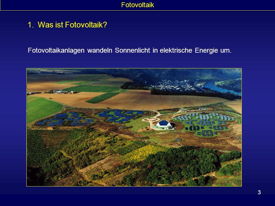 1. Was ist Fotovoltaik Fotovoltaik