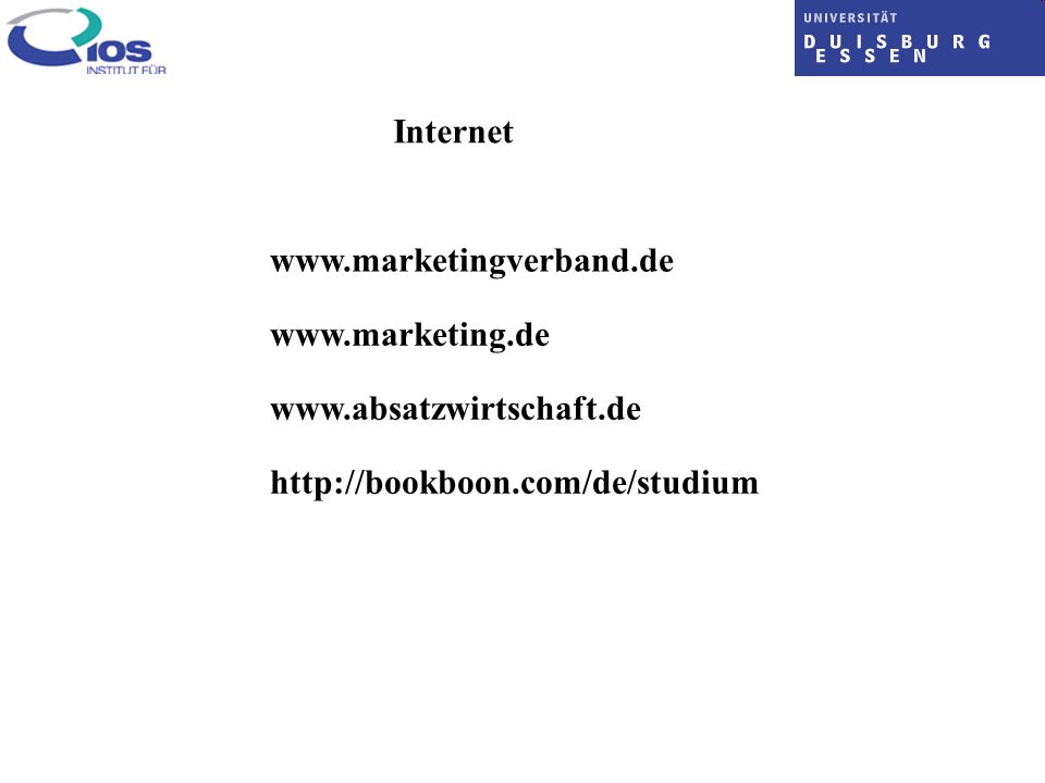 Internet www.marketingverband.de. www.marketing.de.