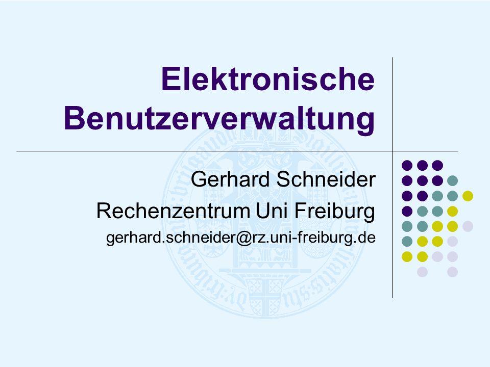 Elektronische Benutzerverwaltung
