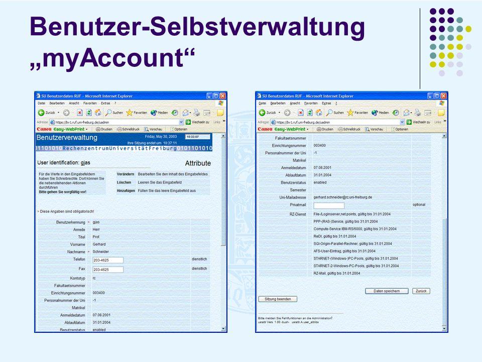 """Benutzer-Selbstverwaltung """"myAccount"""