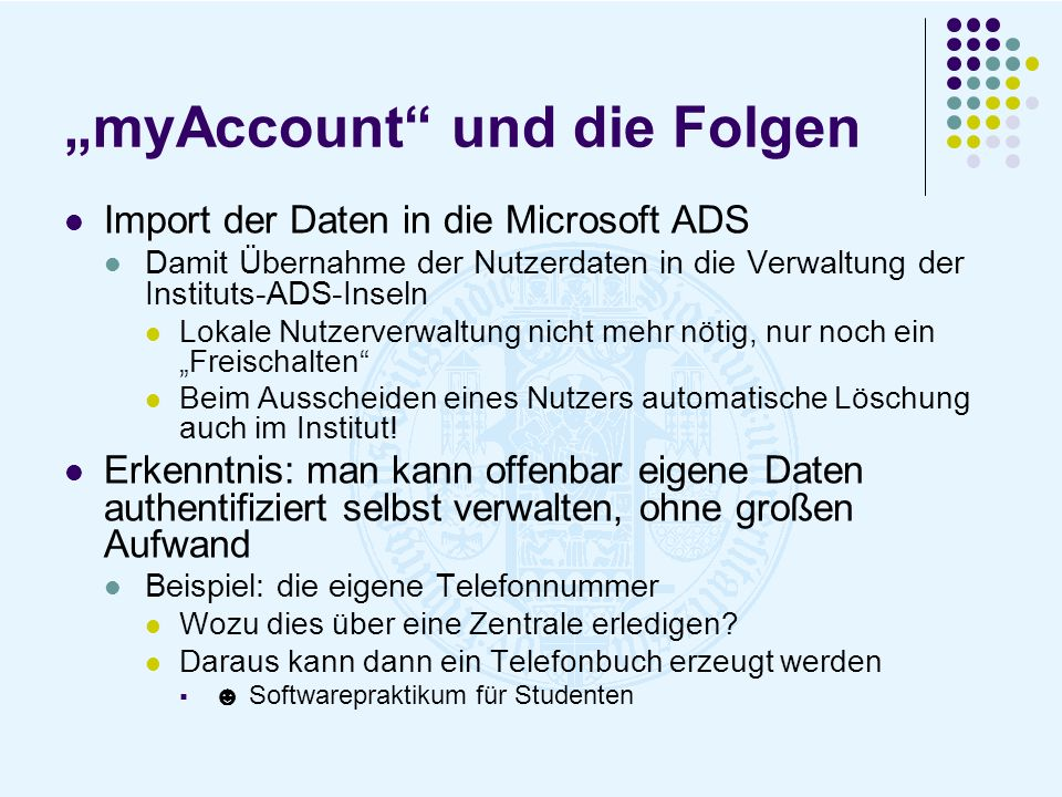 """""""myAccount und die Folgen"""