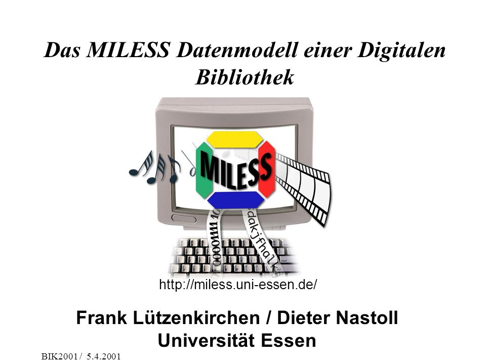 Das MILESS Datenmodell einer Digitalen Bibliothek