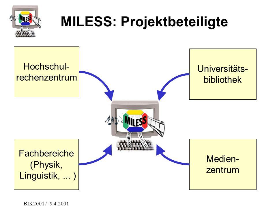 MILESS: Projektbeteiligte