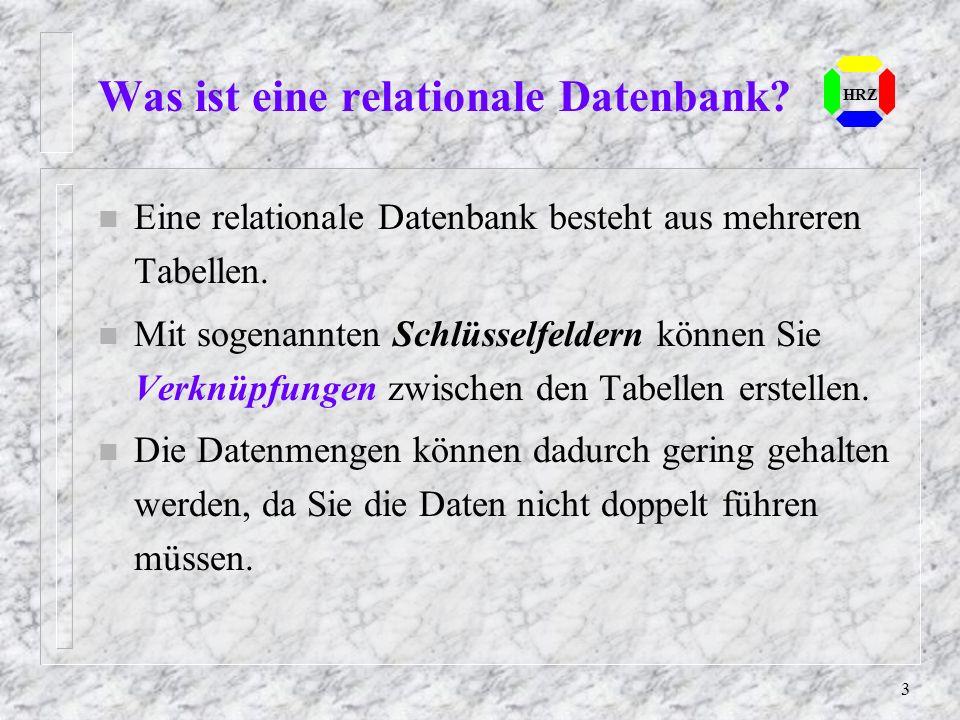 Was ist eine relationale Datenbank