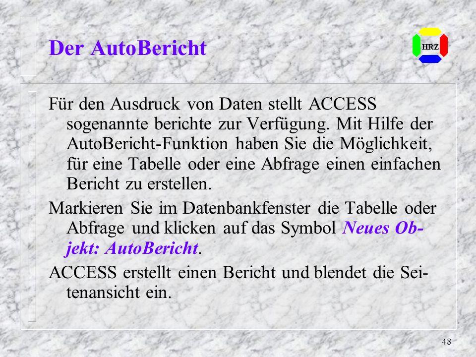 Der AutoBericht HRZ.