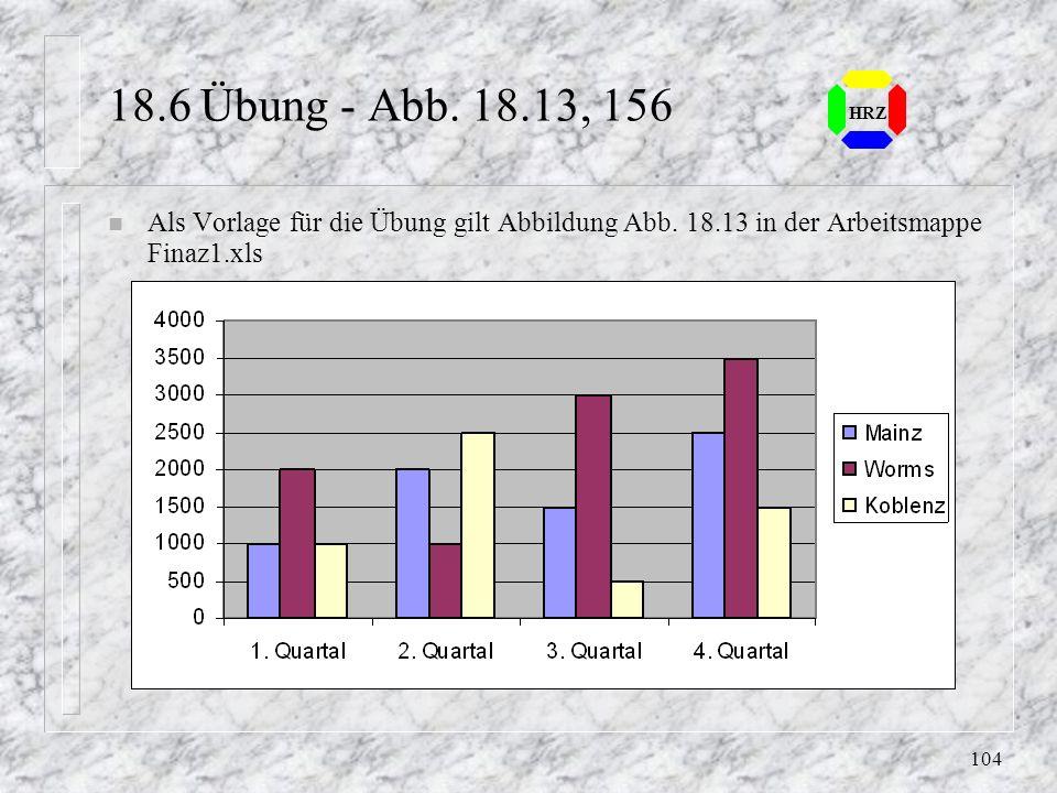 18.6 Übung - Abb. 18.13, 156 HRZ. Als Vorlage für die Übung gilt Abbildung Abb.