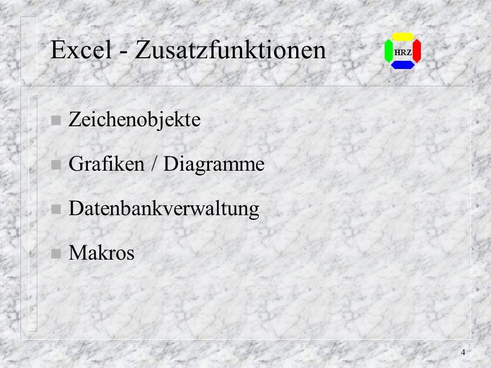 Excel - Zusatzfunktionen
