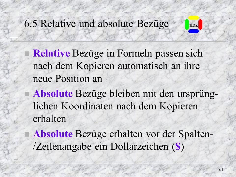 6.5 Relative und absolute Bezüge