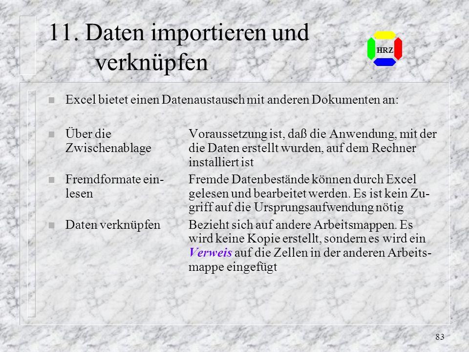 11. Daten importieren und verknüpfen