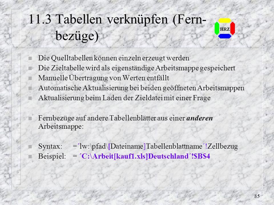 11.3 Tabellen verknüpfen (Fern- bezüge)