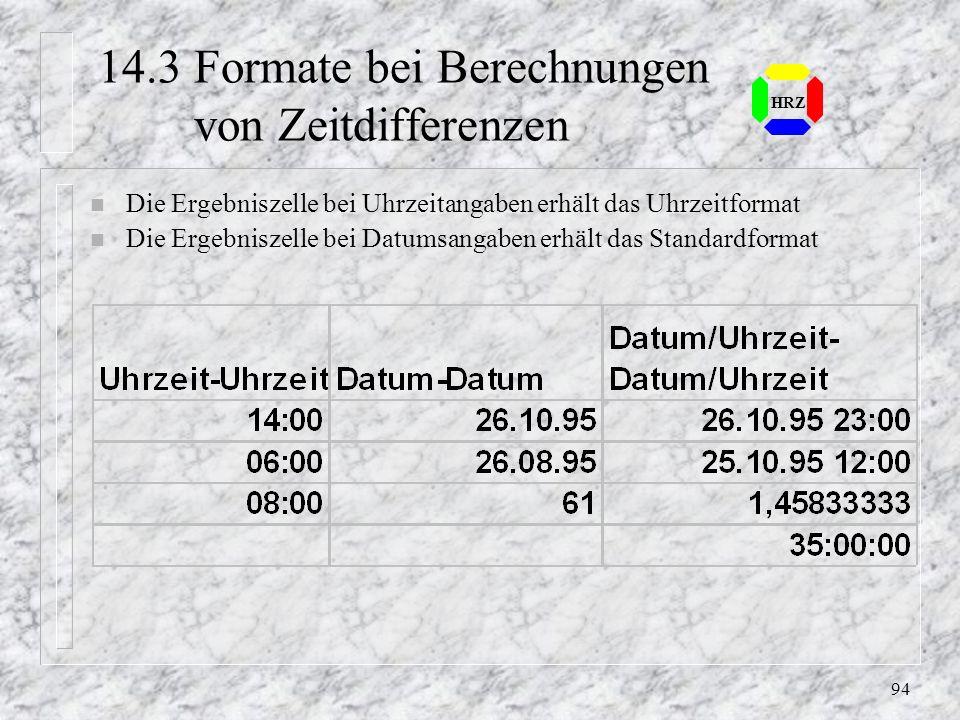 14.3 Formate bei Berechnungen von Zeitdifferenzen