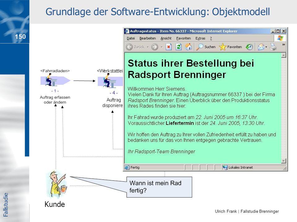 Grundlage der Software-Entwicklung: Objektmodell
