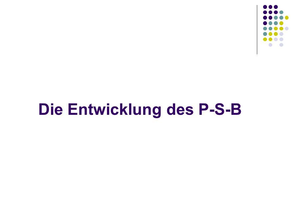 Die Entwicklung des P-S-B