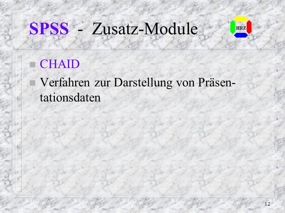 SPSS - Zusatz-Module CHAID