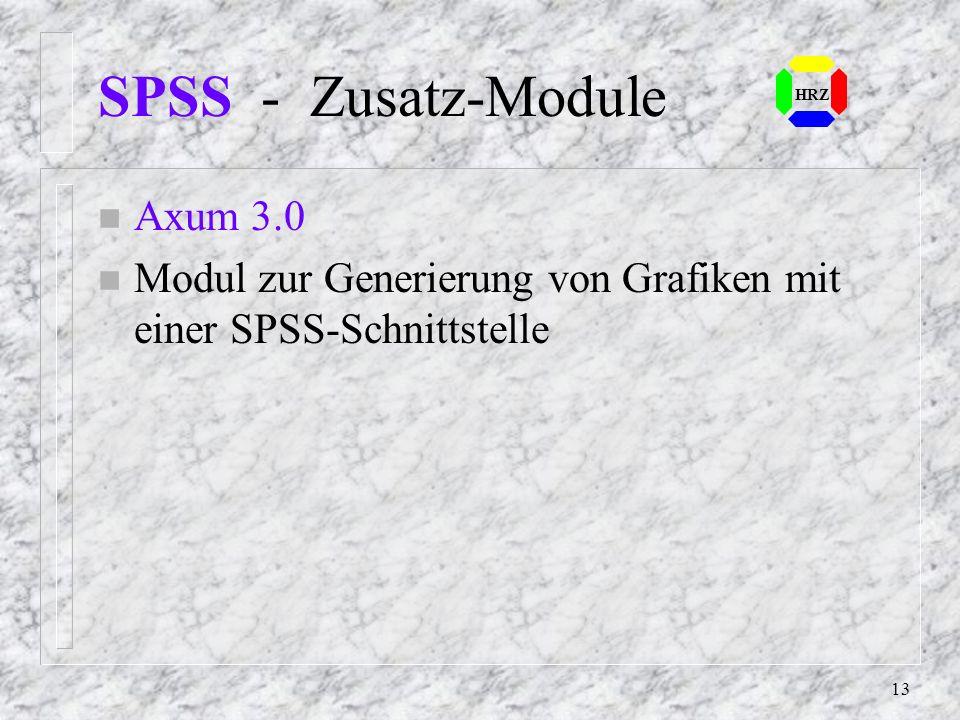 SPSS - Zusatz-Module Axum 3.0