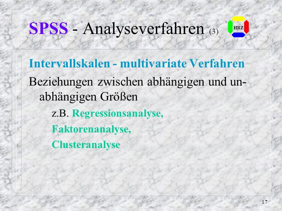 SPSS - Analyseverfahren (3)