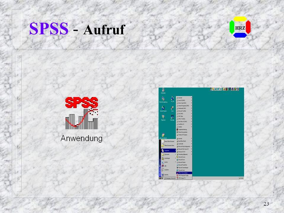 SPSS - Aufruf HRZ