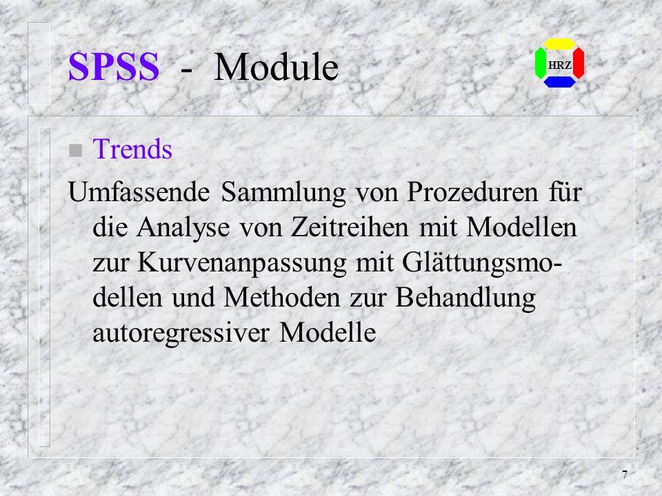 SPSS - Module HRZ. Trends.