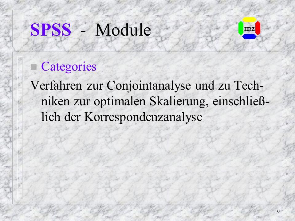 SPSS - Module Categories
