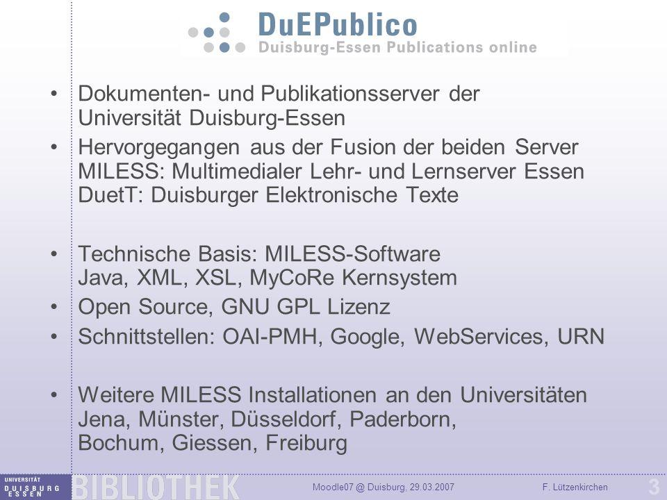 Dokumenten- und Publikationsserver der Universität Duisburg-Essen