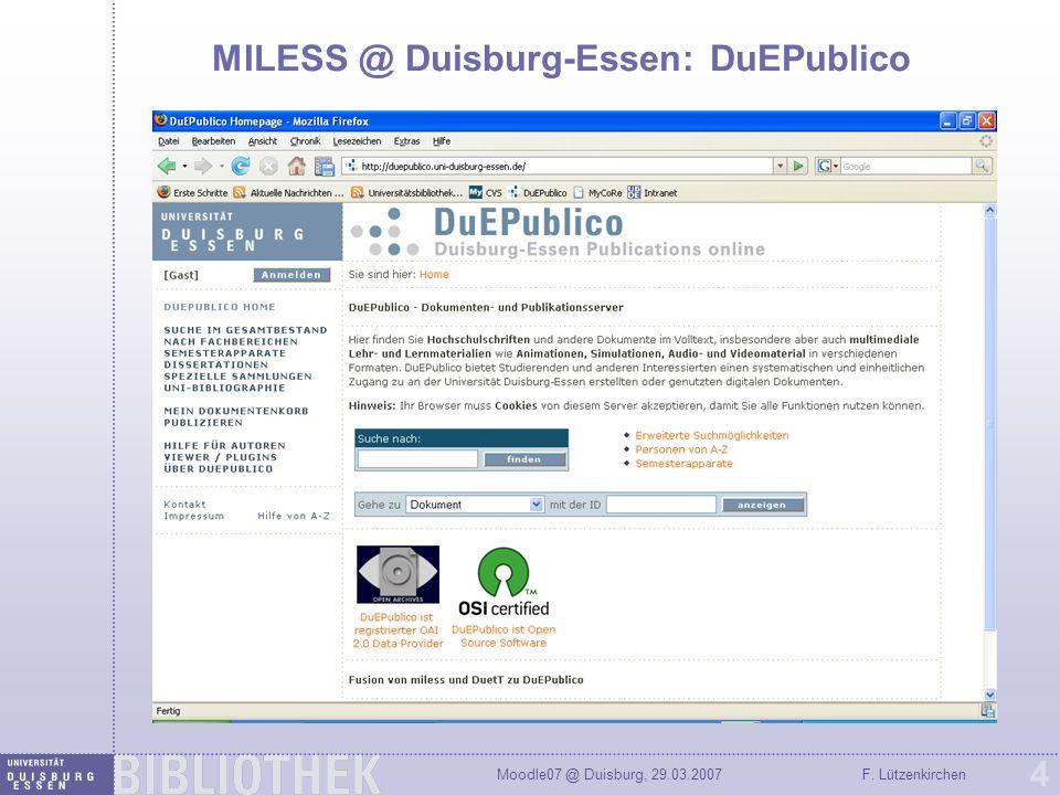 MILESS @ Duisburg-Essen: DuEPublico