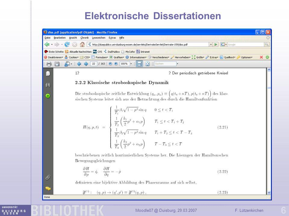 Elektronische Dissertationen