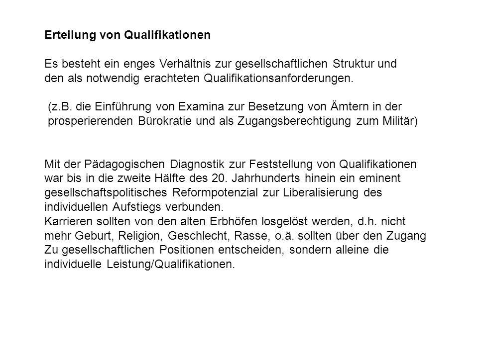 Erteilung von Qualifikationen