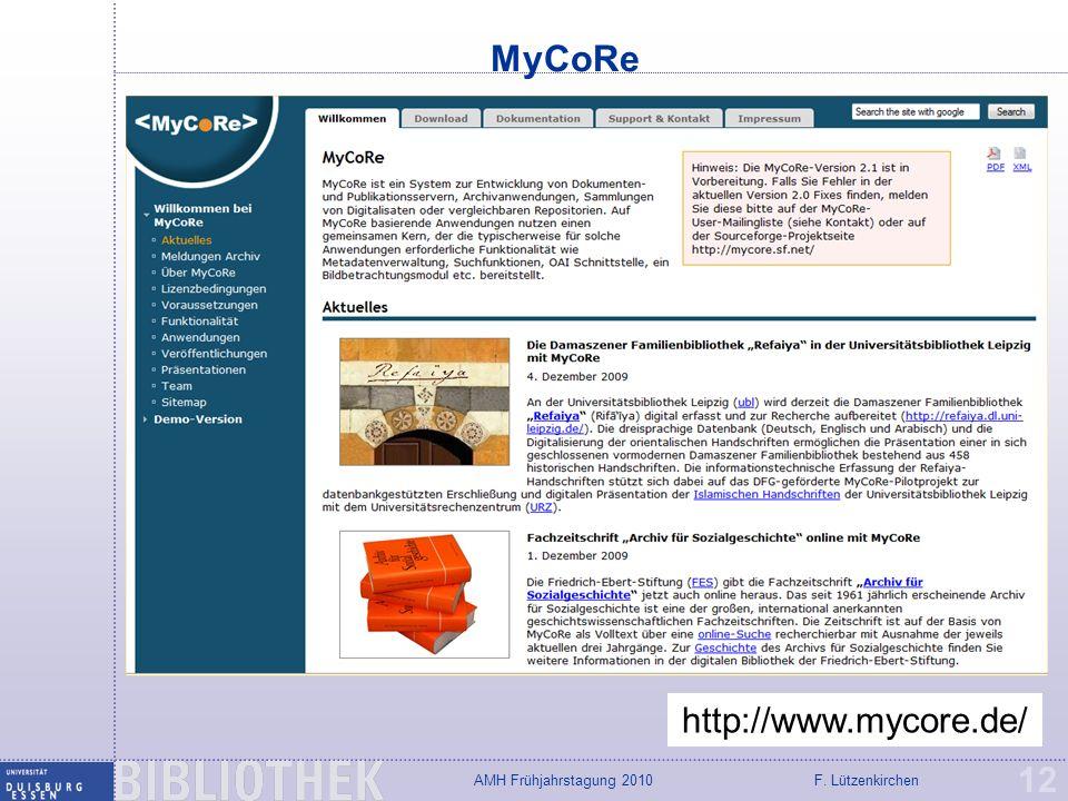 MyCoRe http://www.mycore.de/