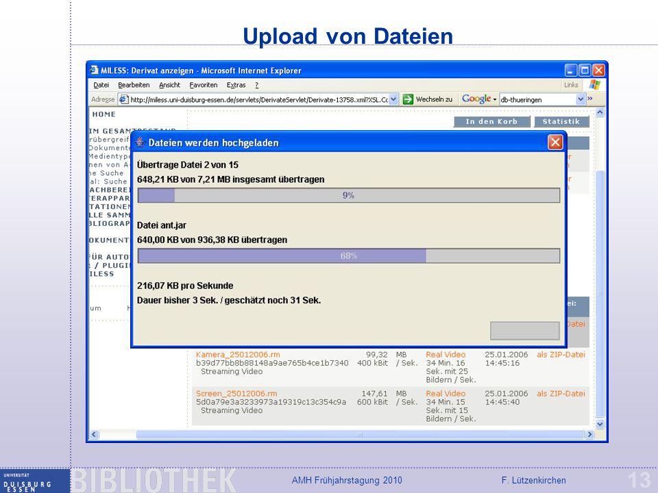 Upload von Dateien