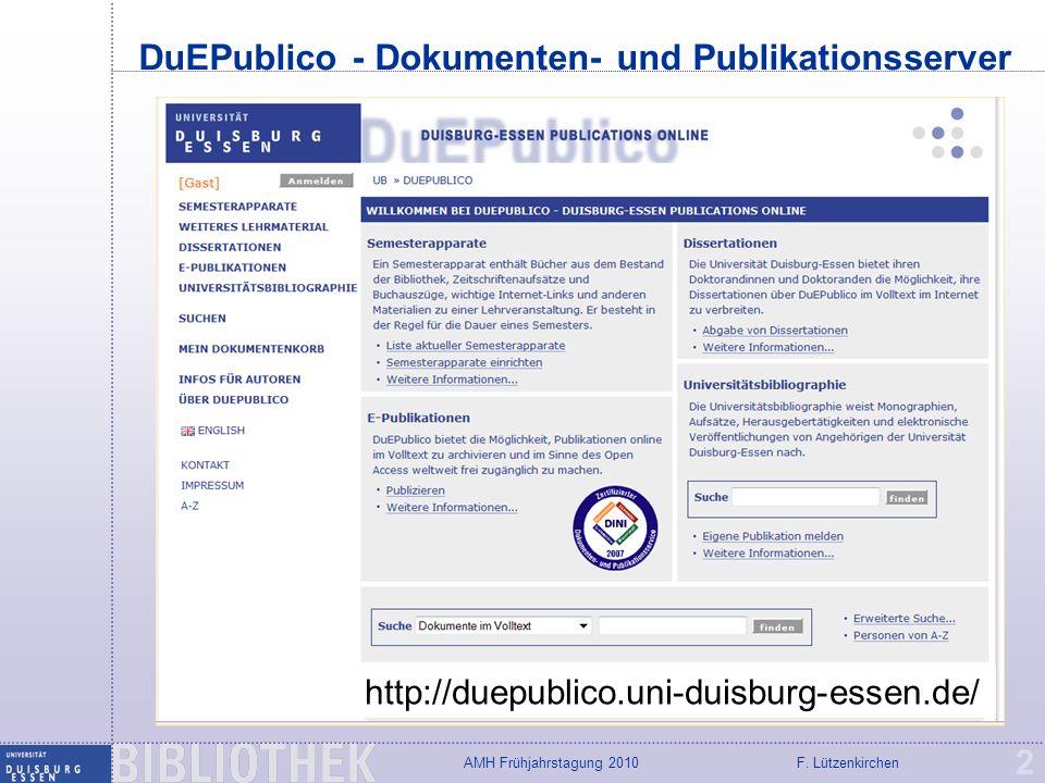 DuEPublico - Dokumenten- und Publikationsserver