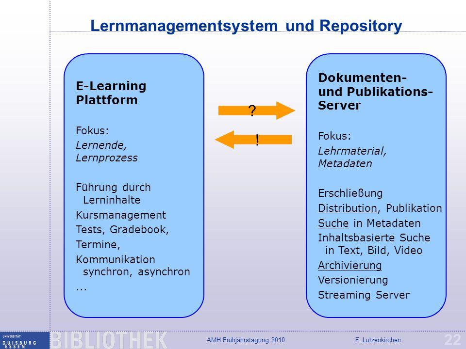 Lernmanagementsystem und Repository