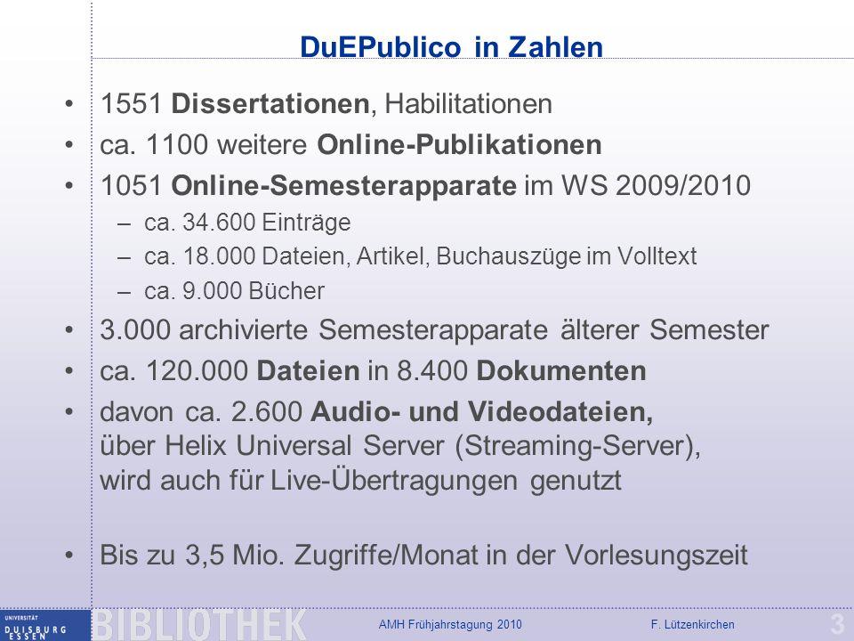 DuEPublico in Zahlen 1551 Dissertationen, Habilitationen