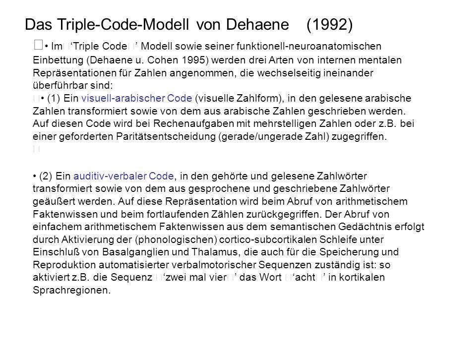 Das Triple-Code-Modell von Dehaene (1992)