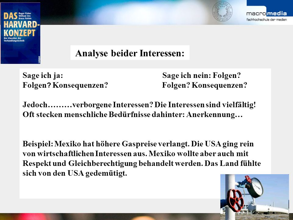 Analyse beider Interessen: