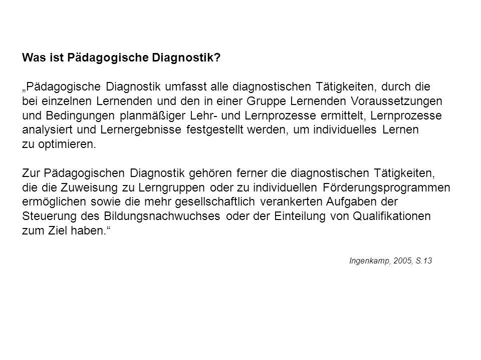 Was ist Pädagogische Diagnostik