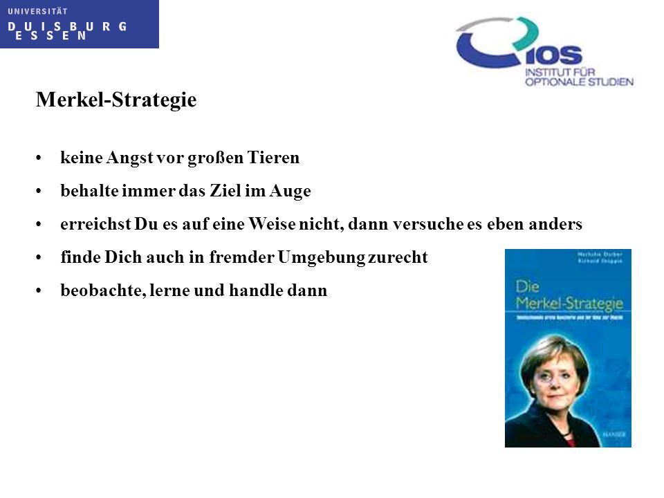 Merkel-Strategie keine Angst vor großen Tieren