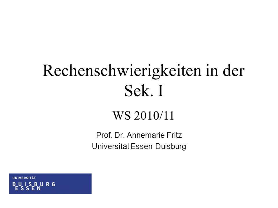 Prof. Dr. Annemarie Fritz Universität Essen-Duisburg