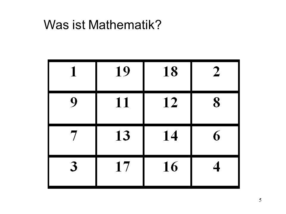 Was ist Mathematik