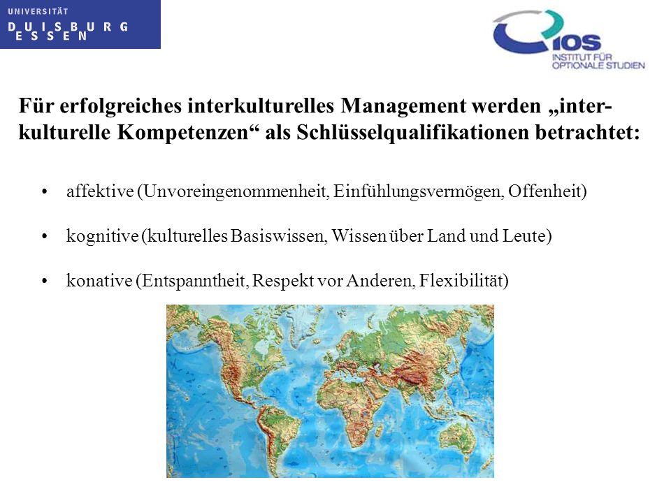 """Für erfolgreiches interkulturelles Management werden """"inter-"""