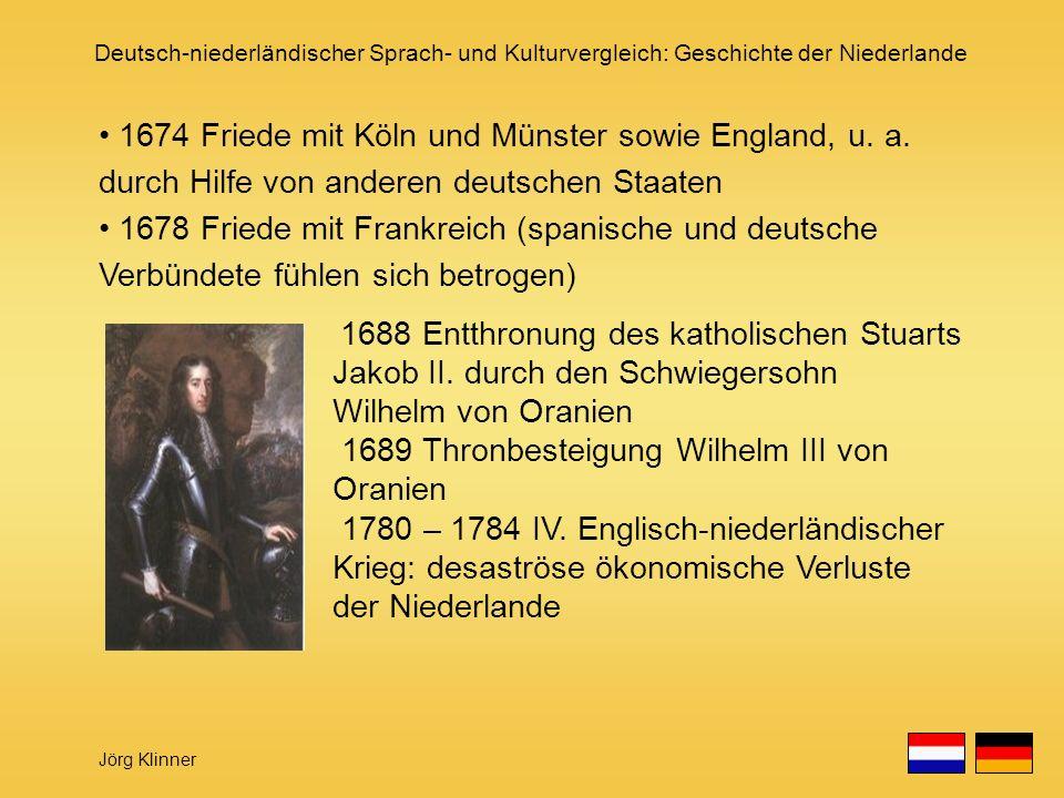 1689 Thronbesteigung Wilhelm III von Oranien