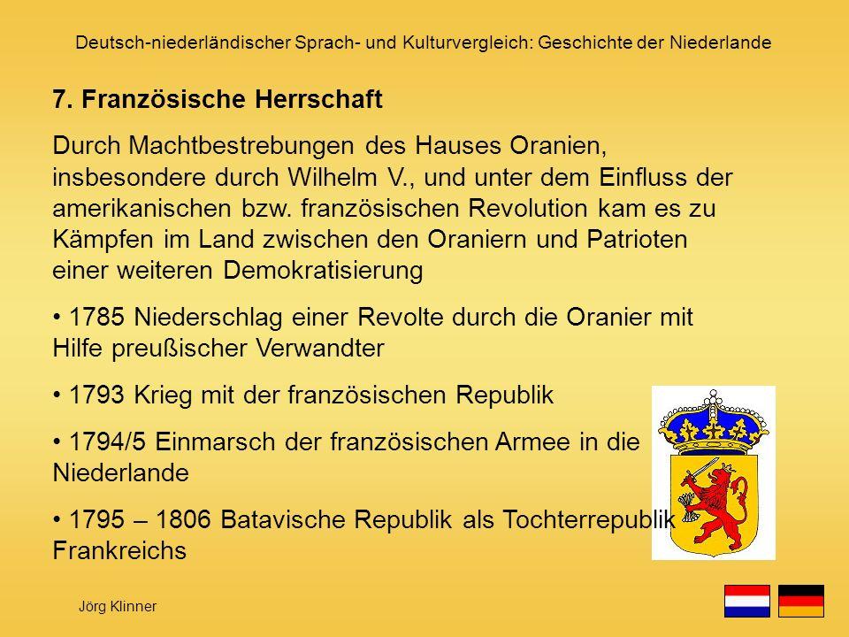 7. Französische Herrschaft
