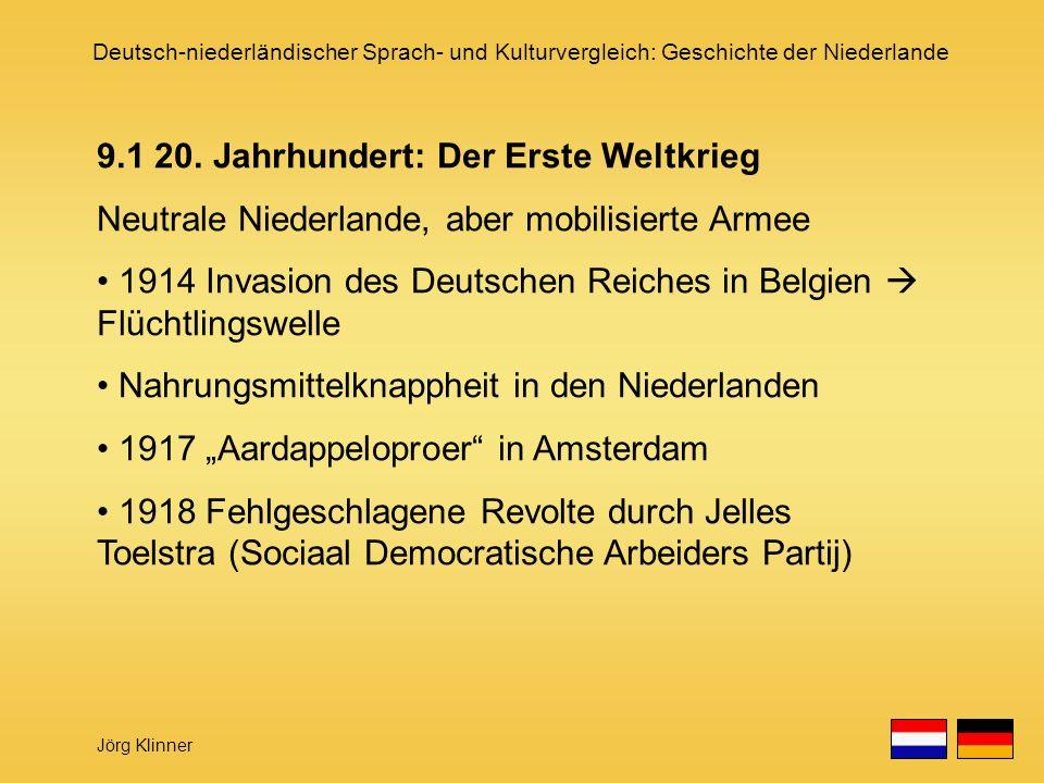 9.1 20. Jahrhundert: Der Erste Weltkrieg